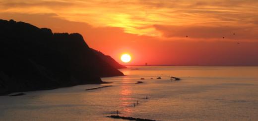 Splendido tramonto dalla Baia Flaminia