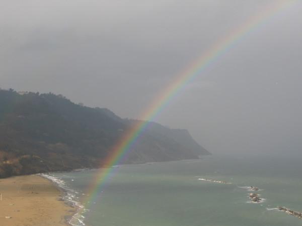 Arcobaleno in Baia Flaminia