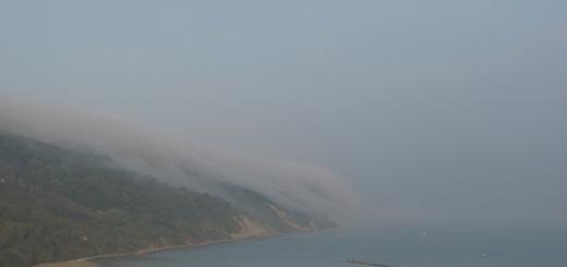 Nebbia sul Monte San Bartolo