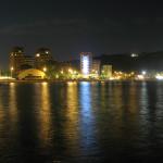 Panorama notturno della Baia Flaminia
