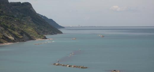 Vista di Rimini da Baia Flaminia