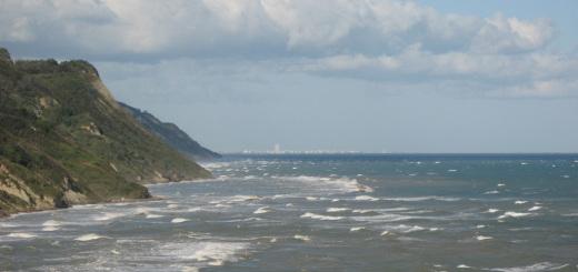 Mare agitato in Baia Flaminia