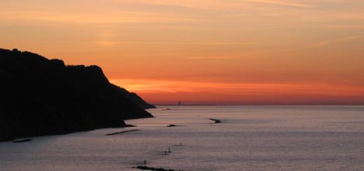 Colori al tramonto in Baia Flaminia