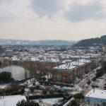 Neve sui tetti di Pesaro da Baia Flaminia il 27/02/2018