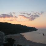 Luci e nuvole al tramonto in Baia Flaminia