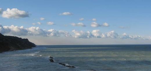 Nuvole particolari sul mare a Baia Flaminia