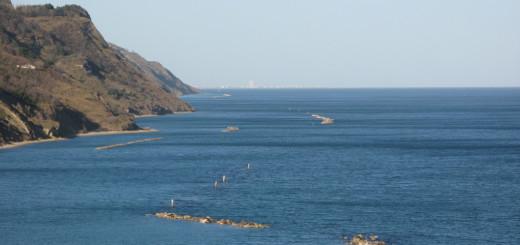 Colori vivaci nel panorama dalla Baia Flaminia