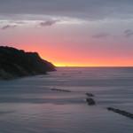 Le prime avvisaglie del tramonto sul mare il 13 maggio 2016