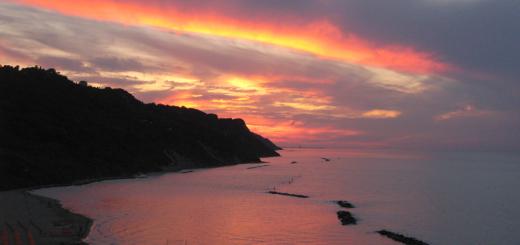 Tramonto spettacolare in Baia Flaminia
