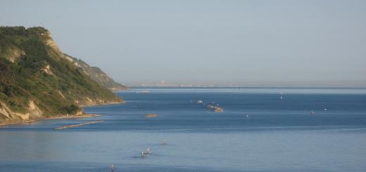 Vista su Rimini da Baia Flaminia