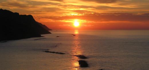 Il tramonto nel suo momento più spettacolare