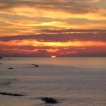 Il momento di massima distanza del sole al tramonto dal Monte San Bartolo
