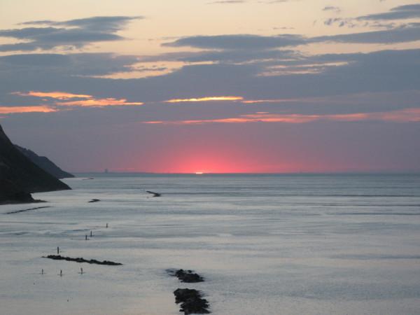 Ultimi raggi di sole nel tramonto del 23 giugno 2015