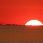 Riflessi sulla Ruota Panoramica di Rimini al tramonto