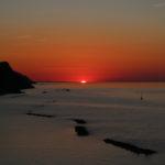 Il sole che raggiunge il punto più lontano verso nord, la sera del 19 giugno 2017