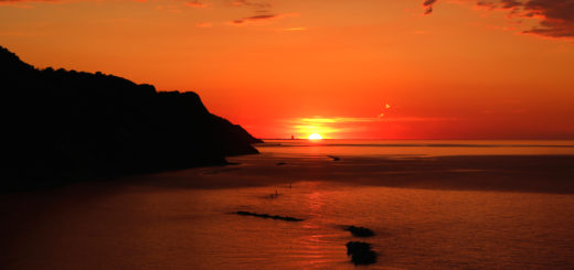 tramonto baia flaminia 1 giugno 2019